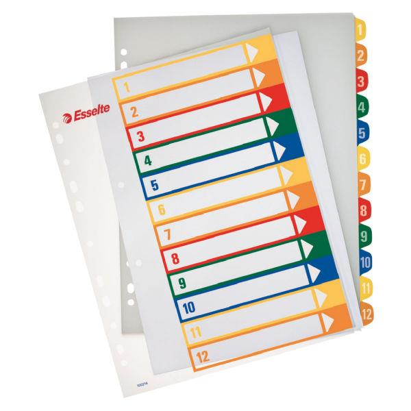 index din plastic imprimabil a4 maxi esselte 1 12 transparent 9861
