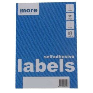etichete albe autoadezive 4a4 more 105x148 mm 100 colicut 9493
