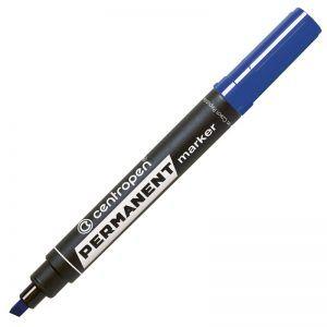 permanent marker centropen 8576 varf tesit albastru 8490