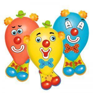 baloane funny clowns set 6 bucati 7736
