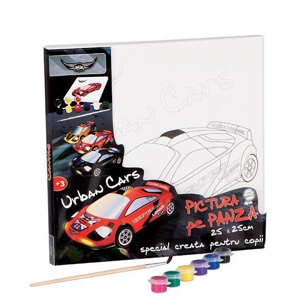 pictura pe panza 25x25 cm urban cars 6391