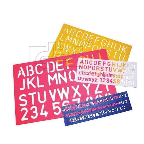 set 4 sabloane alfabet cifre dp collection 6384