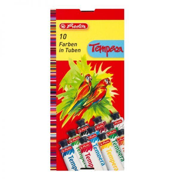 tempera 16ml 10 culoriset 7398